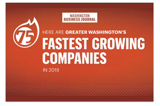 2019 Washington Business Journal Fastest Growing Company